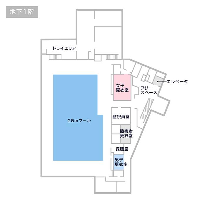 梅丘中学校温水プール マップ
