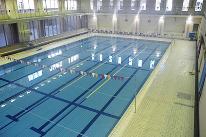 玉川中学校温水プール 25mプール