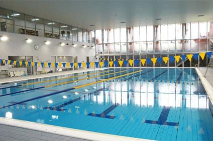 烏山中学校温水プール 25mプール