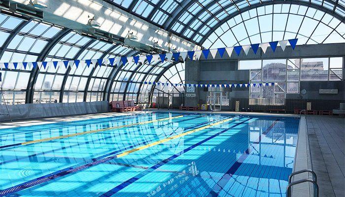 十条台小学校温水プール 25mプール