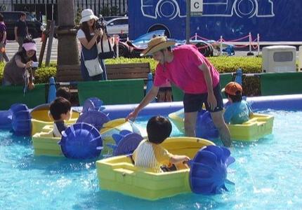 国営昭和記念公園レインボープール キッズボート