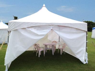 芝政ワールド 有料休憩所 テント席