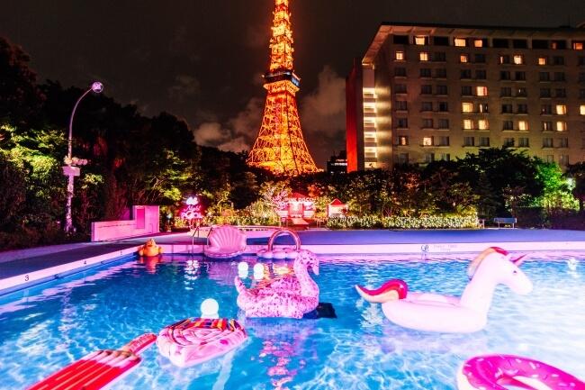 東京プリンスホテル GARDEN POOL cancam ナイトプール